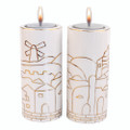 Ceramic Candle Sticks -  United Jerusalem of Gold