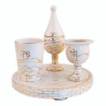 Ceramic Havdala Set&lt;br&gt;Jerusalem of Gold