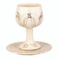 Kiddush Cup and Plate - Jerusalem of Gold - round