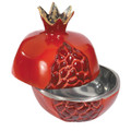 Aluminium Pomegranates Honey Dish (Large) - Red