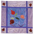 Pomegranate Blue Square Table Cloth