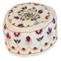 Cream Pomegranate Hand Embroidered Hat
