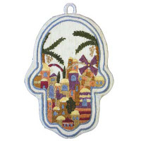 Emanuel Windmill Small Embroidered Chamsa