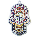 Menorah Small Embroidered Chamsa
