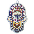 Menorah Large Embroidered Chamsa