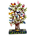 Birds and Pomegranate Tree Laser Cut Hand Painted Candlesticks