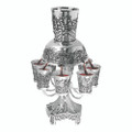 Karshi silver plated kiddush fountain