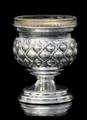 Silver Dipped Salt Holder - Droplet motif on rounded base