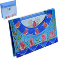 Light Pomegranates Notelets and Envelopes with Case (Size Large)