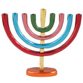 Anodize Aluminum Chanukah Menorah Colorful
