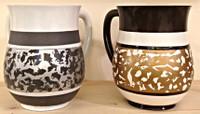 Acrylic Modern Stripe Wash Cup (4196)