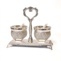Filigree Open Salt & Pepper Cellars MC-X874G