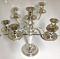 7 Branch Candelabra - Silver Plated
