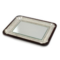 Wood & Silver Plated Mirror DecorativeTray