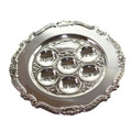 "Silver Plated Seder Plate - 13"" (P-P354)"