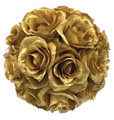 "8"" Rose Ball - Gold or Silver"