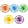 "Colorful Plastic Dreidel - 3.5"" (60 in a pack)"