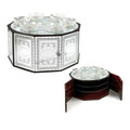 Wood & Glass Mirror 3-Tier Seder Plate