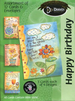 Feminine Birthday Cards - 12 card collection