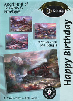 Birthday cards featuring trains