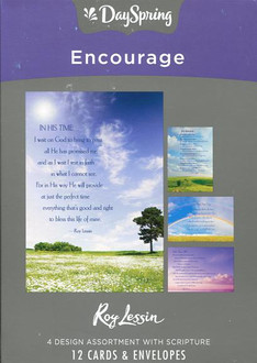 Box of 12 Christian encouragement cards