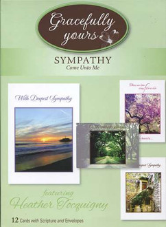 12 religious sympathy cards with envelopes