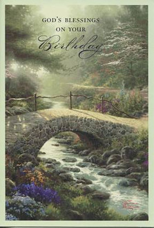 12 Thomas Kinkade Birthday Cards