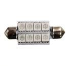 264 42mm Festoon 8* 5050 SMD Canbus Amber LED Bulb