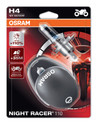 Osram H4 60/55w Night Racer Plus 110% Motorbike bulbs (Twin) (64193NR1-02B)