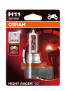 Osram H11 55w Night Racer +110% Motorbike bulb (Single) (64211NR1-01B)