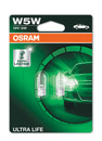 Osram 501 W5W 12v Ultra Life up to 3 x Lifetime Bulbs (Twin Pack) (2825ULT-02B)