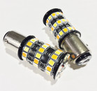 380 P21/5W 48* 2835 Canbus LEDs (Cool White/Amber) Dual Colour