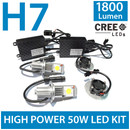 BRAND NEW H7 50W CREE LED HEADLIGHT FOGLIGHT KIT 1800Lm -
