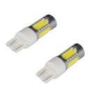 R580 (W21/5w) 7.5W COB White LED Bulbs (2 bulbs)