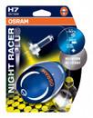 Osram H7 Night Racer Plus 12v 55w Motorbike bulbs upto +90% more light (Twin Blister)