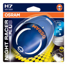 Osram H7 Night Racer Plus 12v 55w Motorbike bulbs upto +90% more light (Single Blister)