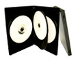 14mm Black DVD Case Holds 4 Discs w/ 1 Tray