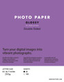 Double Sided Glossy Inkjet Photo Paper 8.5 x 11 inches (260g)
