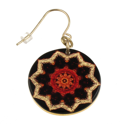 4120-139 - Red Starburst Earring