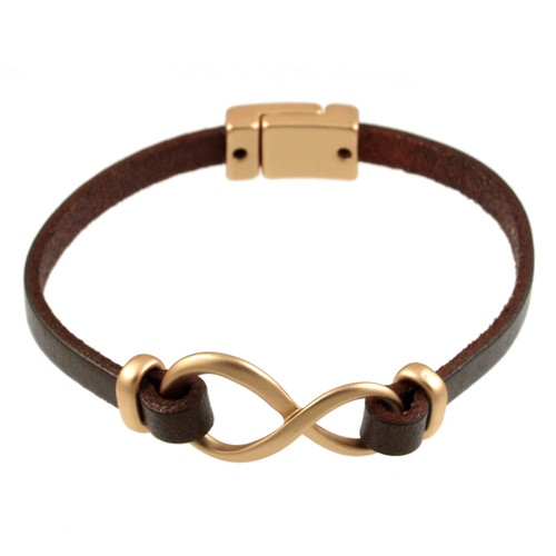 6138-59 - Matte Gold/Metallic Copper Infinity Magnetic Bracelet