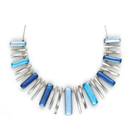 1635-02 - Atlantic Blue Sticks Necklace