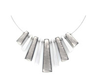 1892-9 - Pinstripe Necklace Silver