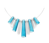 1892-2 - Pinstripe Necklace Turquoise