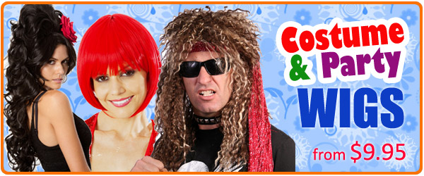 Click here to view our range of Costume & Party Wigs