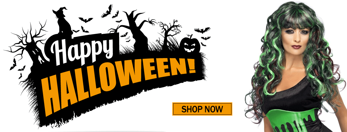 HALLOWSEEN WIGS & ACCESSORIES - SHOP NOW