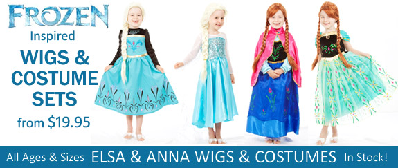 FROZEN COSTUMES & WIGS IN STOCK NOW!