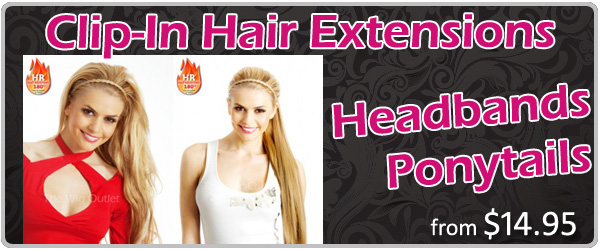 Clip In Hair Extensions & Ponytails