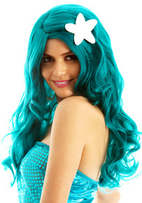 DELUXE Mermaid Green Costume Wig - by Allaura