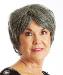 DELUXE Grey Granny Costume Wig