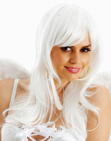 White Angel Long Deluxe Costume Wig